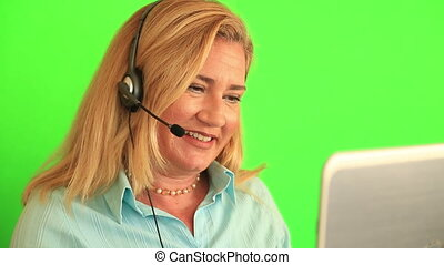 Customer service and call centre operator - Beautiful blonde...