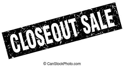 square grunge black closeout sale stamp