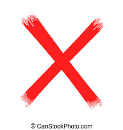 Check Mark - Red Check Mark, cross signs with white...