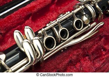 Clarinet on box