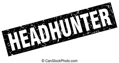 square grunge black headhunter stamp