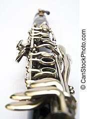 Clarinet on white background
