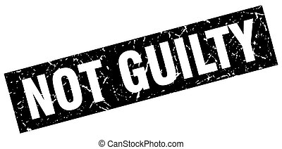 square grunge black not guilty stamp