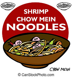 Shrimp Chow Mein Noodles - An image of Shrimp Chow Mein...