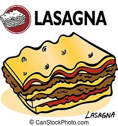 lasagna, fetta