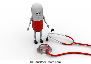 Stethoscope with capsule pill