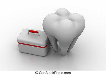 First aid kit with teeth