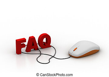 Word faq connected with computer mouse