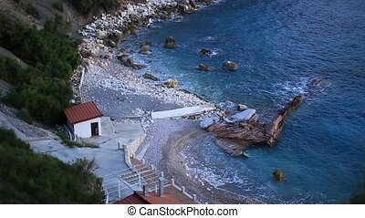 "The beach ""Crvena Glavica"" in Montenegro. Wild beach - The..."