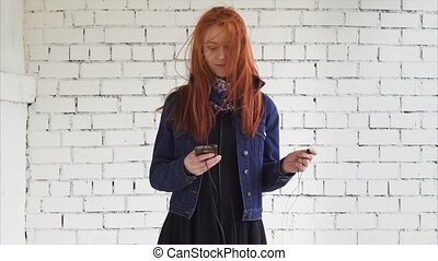 woman with a smartphone