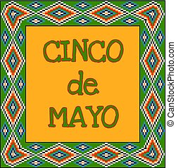 Cinco de Mayo background with mexican ornament