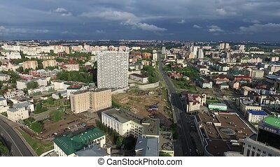 Kazan, Russia. Aerial view from center of city at Grand...