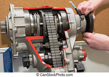 Insight into a transfer case - Model shows insight into a...