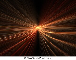 Explosion blur - Abstract fractal background Computer...