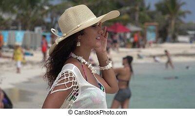 Beautiful Woman Beach Vacation