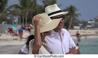 Happy Married Couple On Vacation