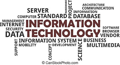 word cloud - information technology - A word cloud of...