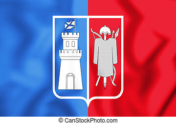 +++Rostov-na-Donu_flag - 3D Flag of Rostov-on-Don, Russia....