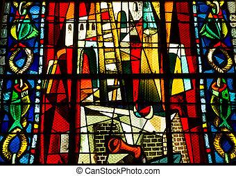 Stained Glass Window in Churche Saint Jean de Mormartre.