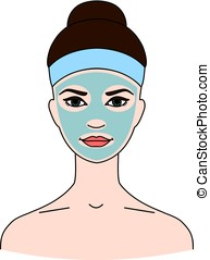 Cosmetic therapeutic blue kaolin mask for face. - Cosmetic...