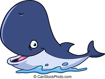 Happy whale - Happy cartoon whale