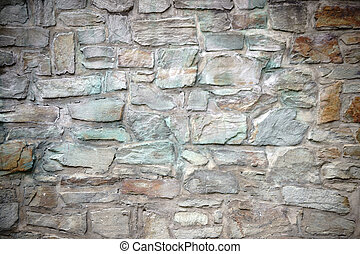 Striking Wall stones - A striking wall with differently...