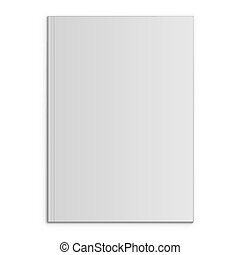 Blank magazine front page vector template with shadow...