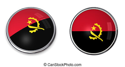 Banner Button Angola - button style banner in 3D of Angola