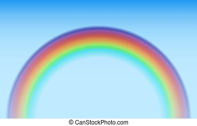 Colorful rainbow semicircle vector background.