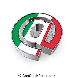 AT National - Italy - silver shiny chrome @ AT symbol on...