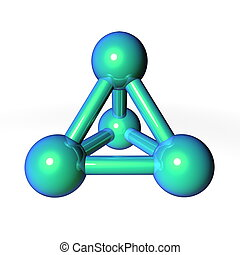 Molecule Structure Metallic Green-Blue - simple metallic...