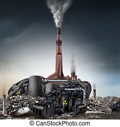 Climate Change Denier Concept - Climate change denier...