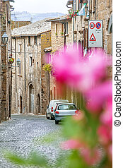 Little street in Orvieto, Italy, Toscana - Little street...