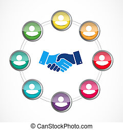 business agreement handshake concept illustration design...