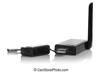 USB 3G modem isolated on white