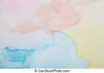 water colour painted background