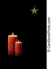 candle christmas - christmas card with candles