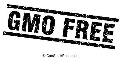 square grunge black gmo free stamp