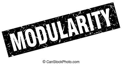 square grunge black modularity stamp