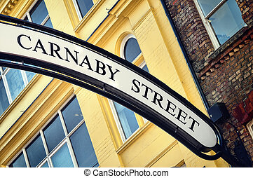 Carnaby Street is a famous shopping streets in London