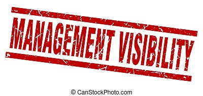 square grunge red management visibility stamp