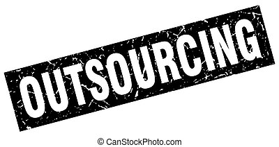 square grunge black outsourcing stamp