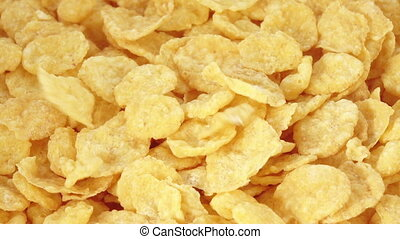 Corn flakes without glaze - In the white surface kukurznye...