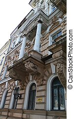 Old historical building in baroque style in emergency...