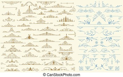 Vintage Vector Ornaments Decorations Design Elements.