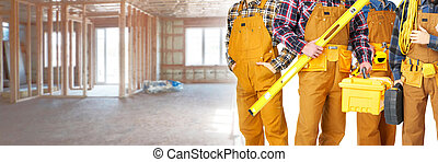 Construction workers team - Group of professional...