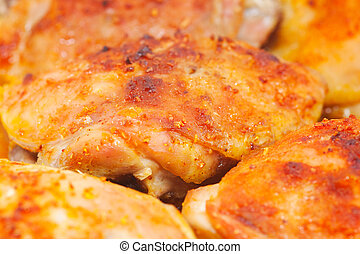 Roasted chicken thighs - Roasted chiken thighs with spices...