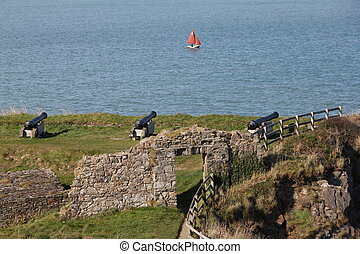 Fort at Fishguard, Wales