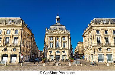 Place de la Bourse in Bordeaux, France - Place de la Bourse,...