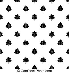 Poplar leaf pattern vector - Poplar leaf pattern seamless in...